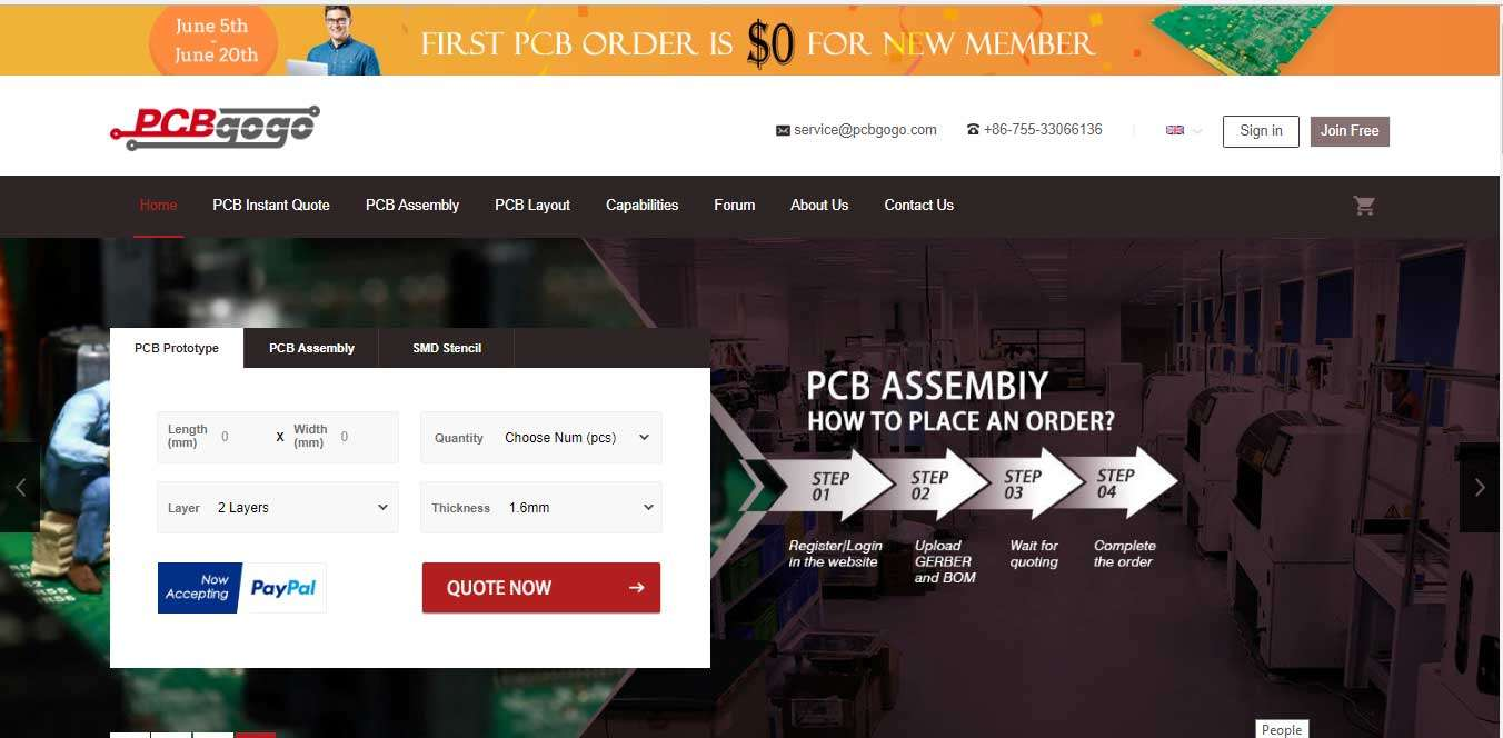 PCBgogo New Website is Now Live! Give Away | Get Your Free PCB Now