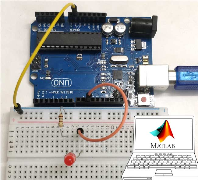 Interfacing of Arduino Mega2560 with MATLAB for Beginners