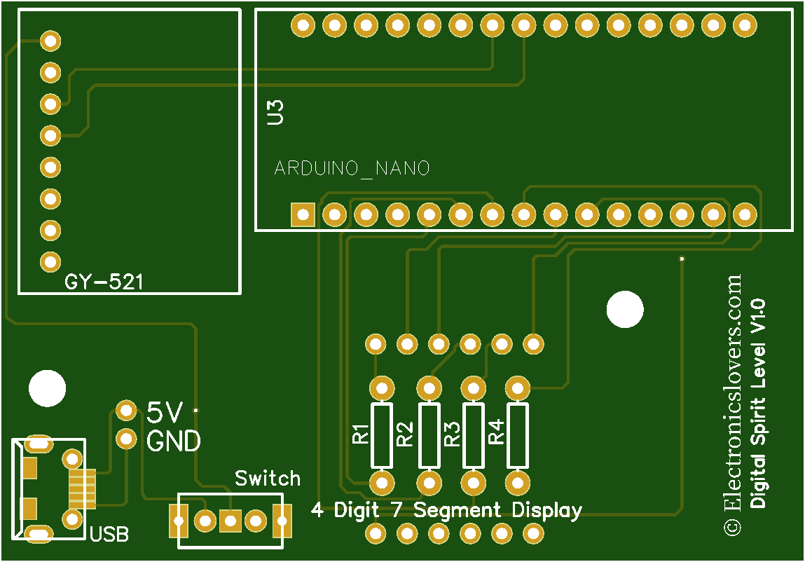 Digital spirit module PCB top