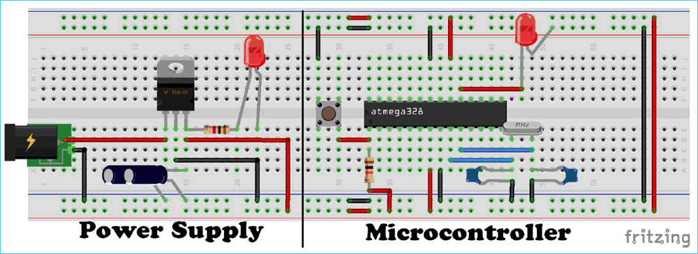 Make Your Own Arduino Board by using Atemga328 IC – A DIY
