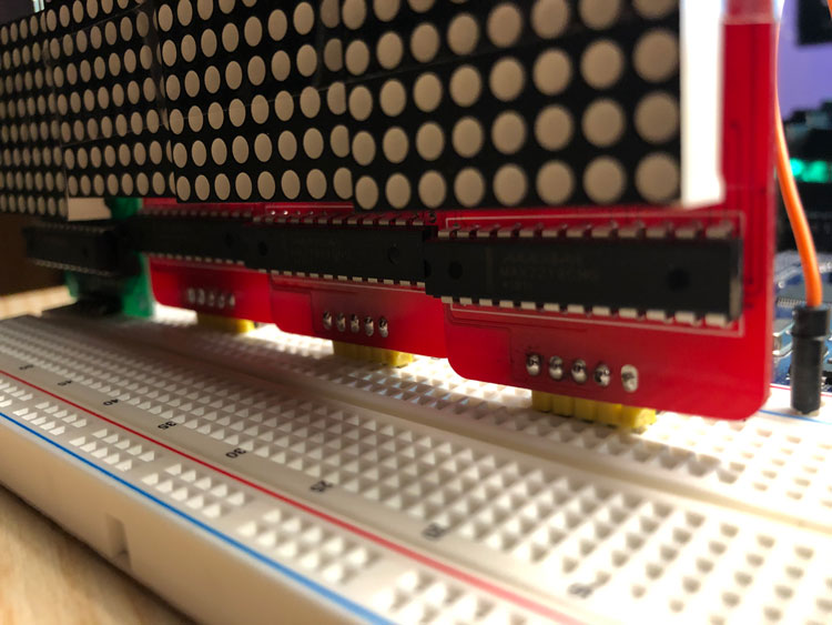 Scrolling Text on a 8x8 LED Matrix Project | Sponsored By Pcbgogo