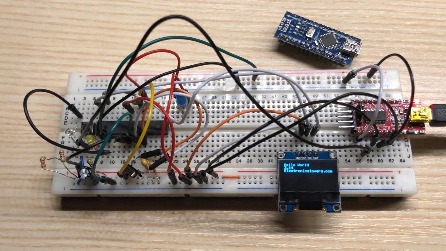 Interacting with an OLED Display via an I2C Bus system   Diy Project