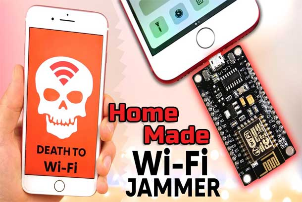 A Simple HomeMade Wi-Fi Jammer by using an ESP8266 | DIY Project