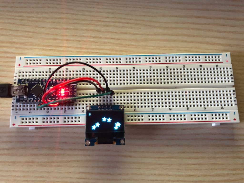 Interacting with an OLED Display via an I2C Bus system | Diy Project