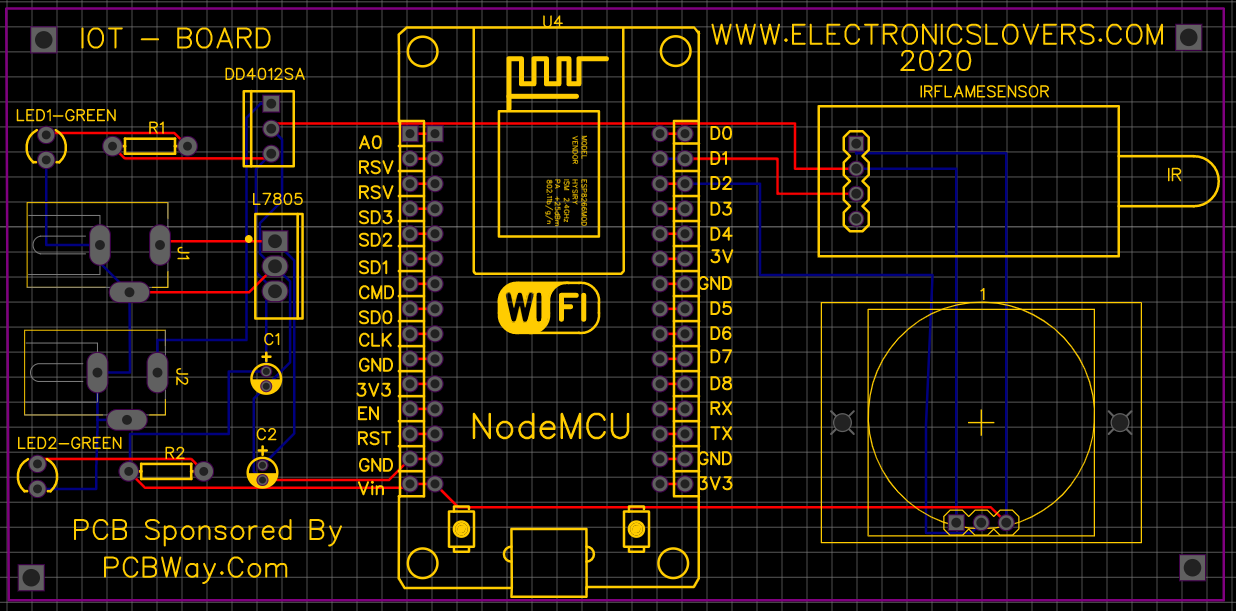 Fire and motion SENSOR PCB