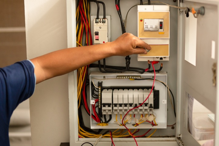 image of an electrical service panel